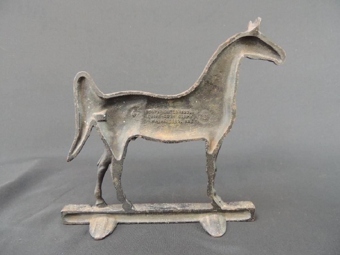 Antique Cast Iron Kings Genius Horse Doorstop - 3