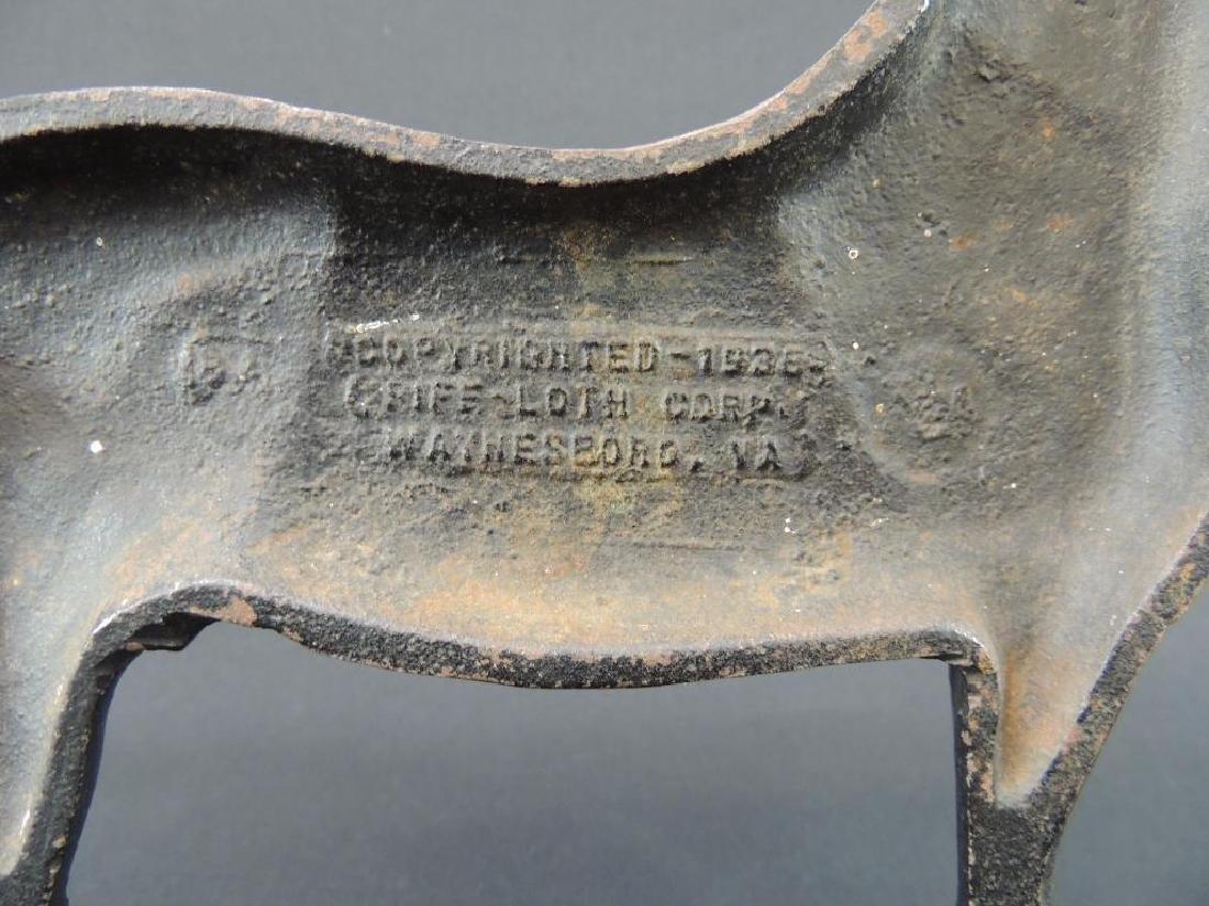 Antique Cast Iron Kings Genius Horse Doorstop - 4