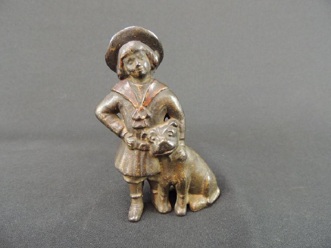 Antique Cast Iron Buster Brown and Tige Coin Bank