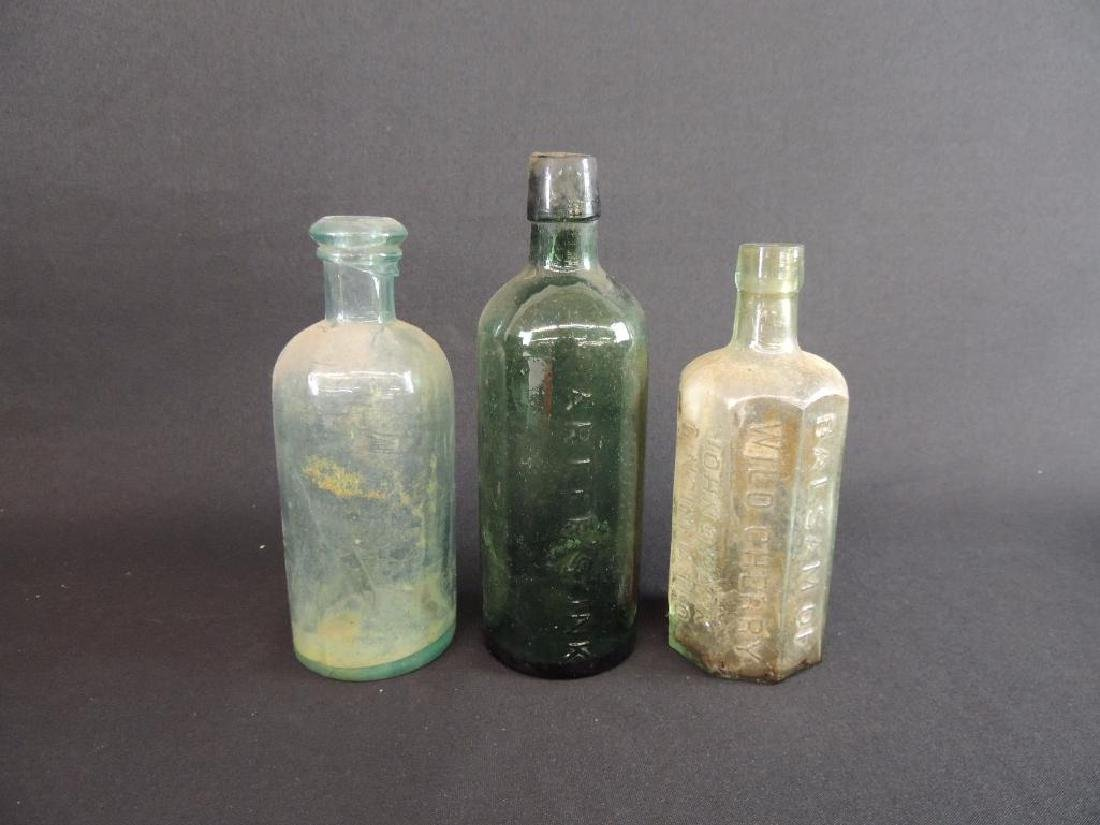 Group of 3 Antique Bottles Featuring John D. Park,