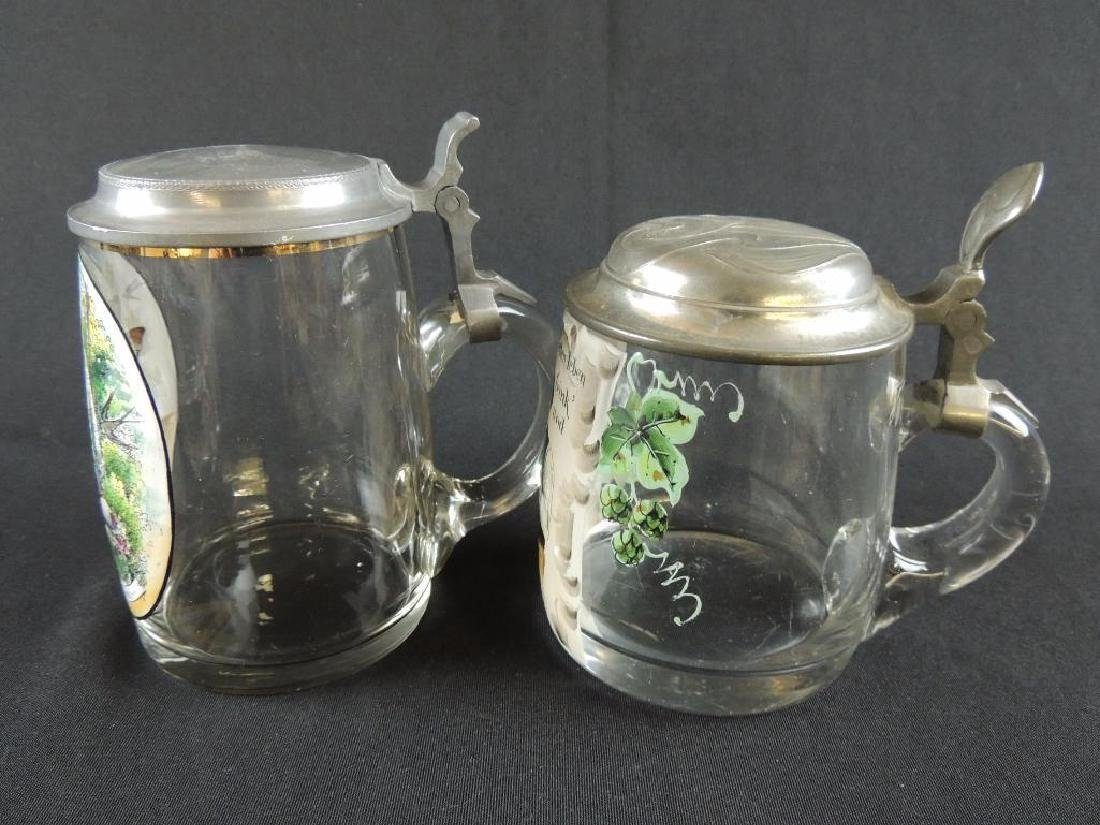 Pair of German Crystal Steins 0.5L - 2