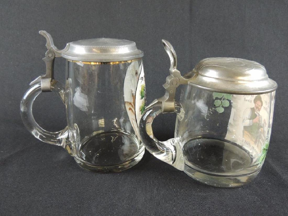 Pair of German Crystal Steins 0.5L - 4