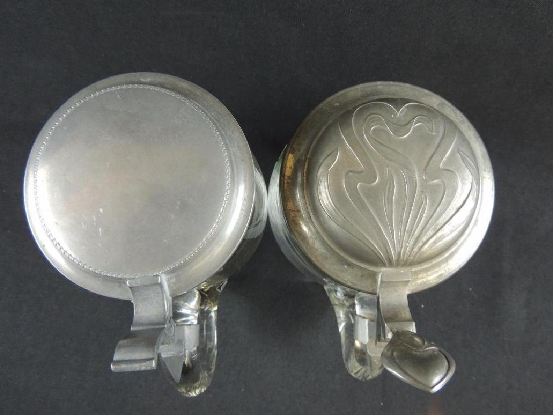 Pair of German Crystal Steins 0.5L - 5