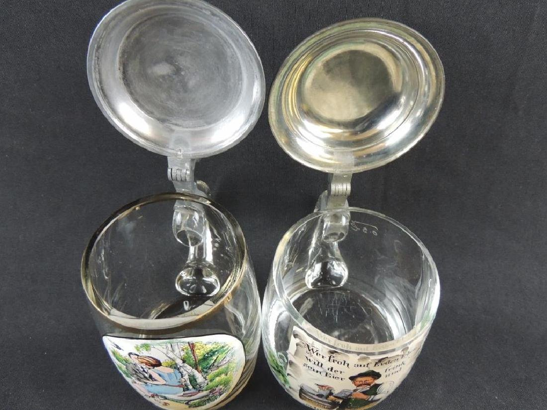 Pair of German Crystal Steins 0.5L - 6