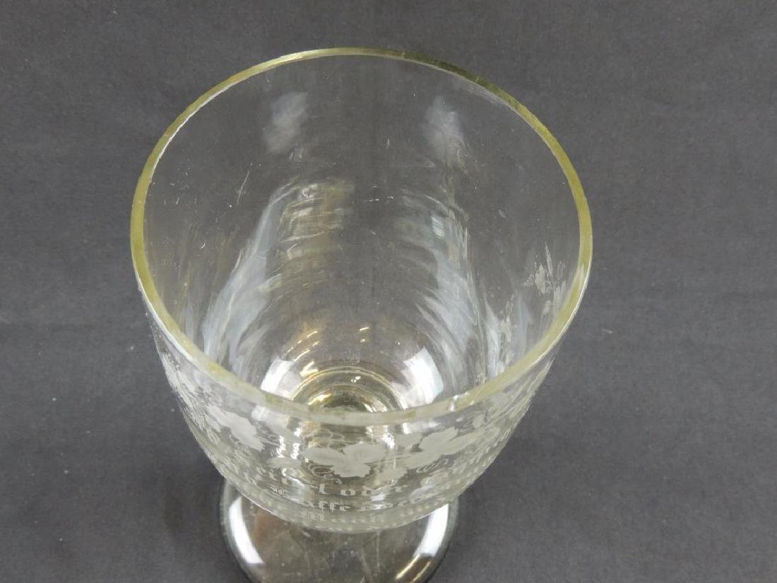 Enormous Antique German Crystal Beer Goblet - 3