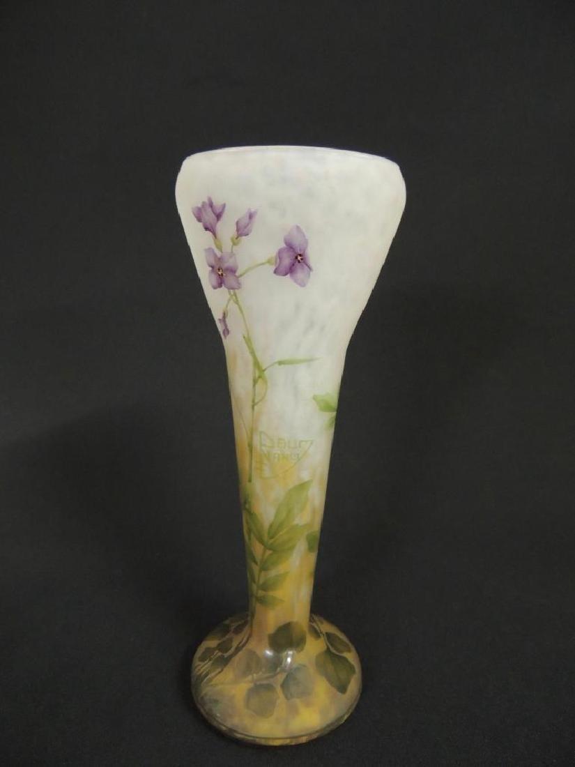 Antique Daum Nancy Violet Vase - 2