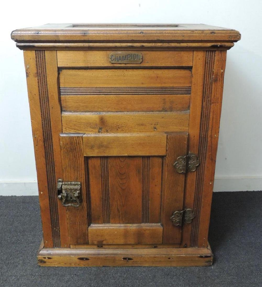 Antique Champion Ice Box