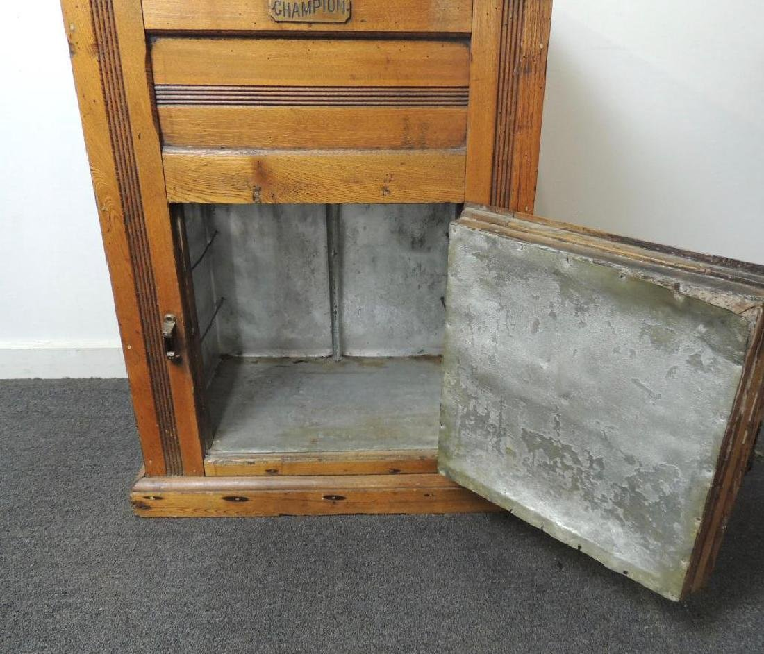 Antique Champion Ice Box - 3