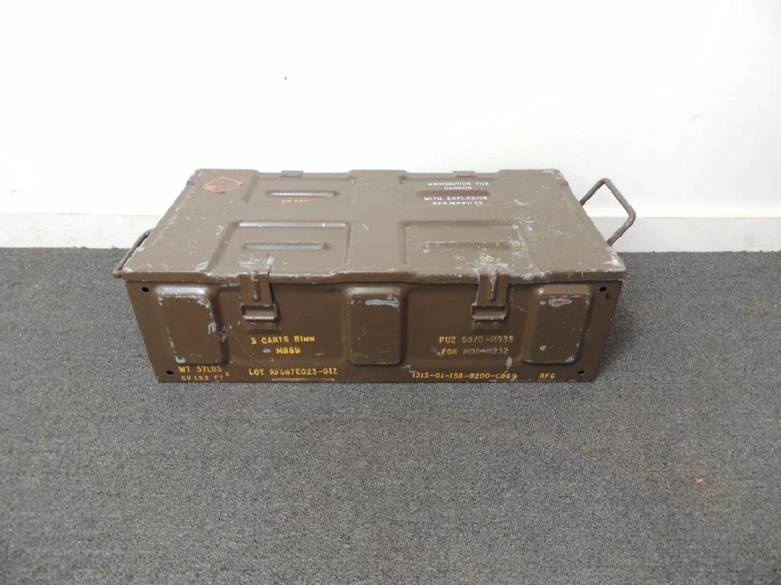 M889 81mm Cartridge Metal Ammo Box