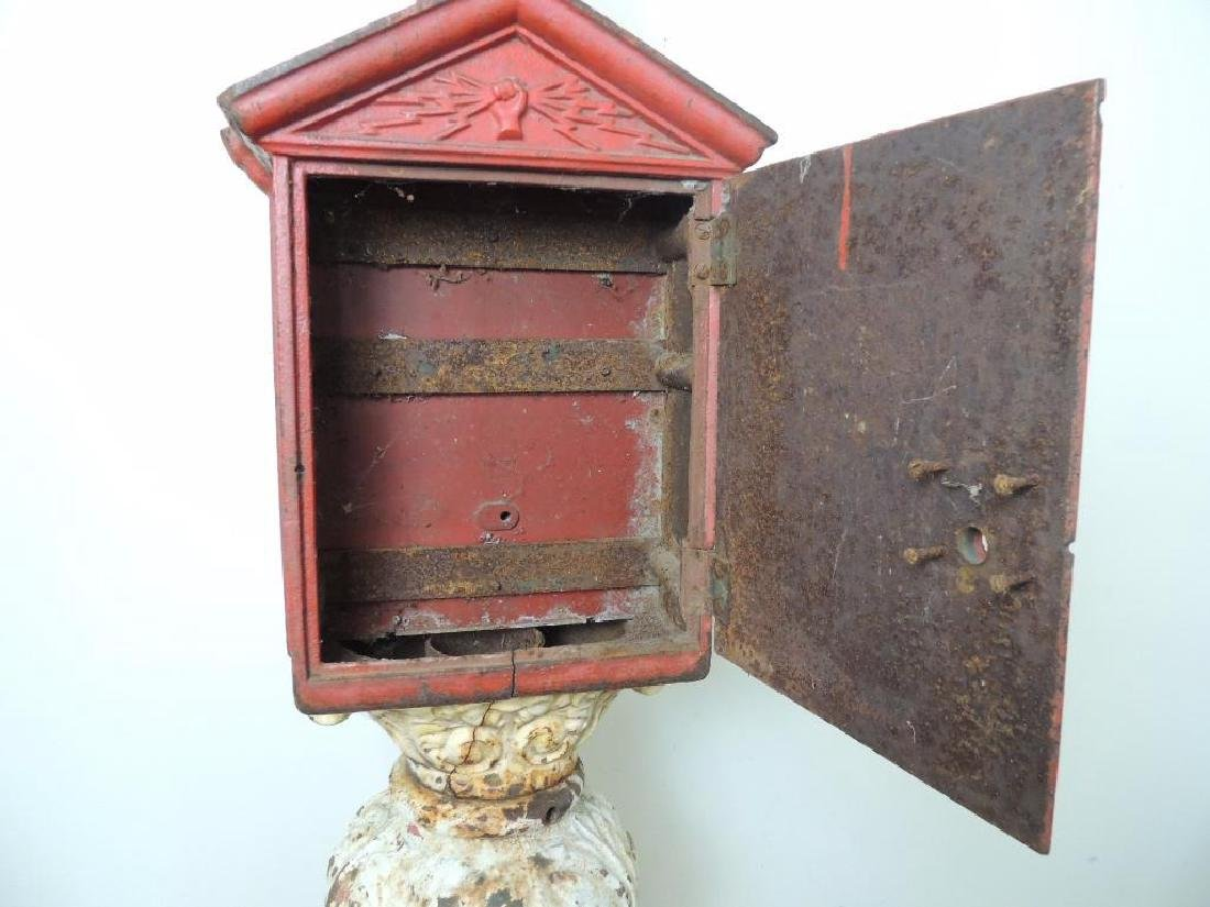 Antique Cast Iron Fire Alarm Telegraph Cable Box On - 3