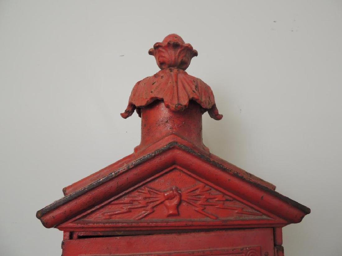 Antique Cast Iron Fire Alarm Telegraph Cable Box On - 4