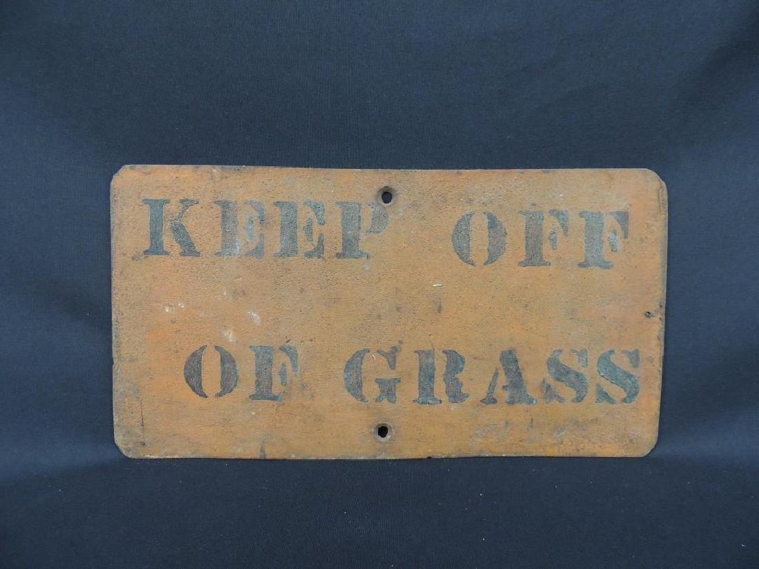 Keep of Grass Vintage Metal Sign
