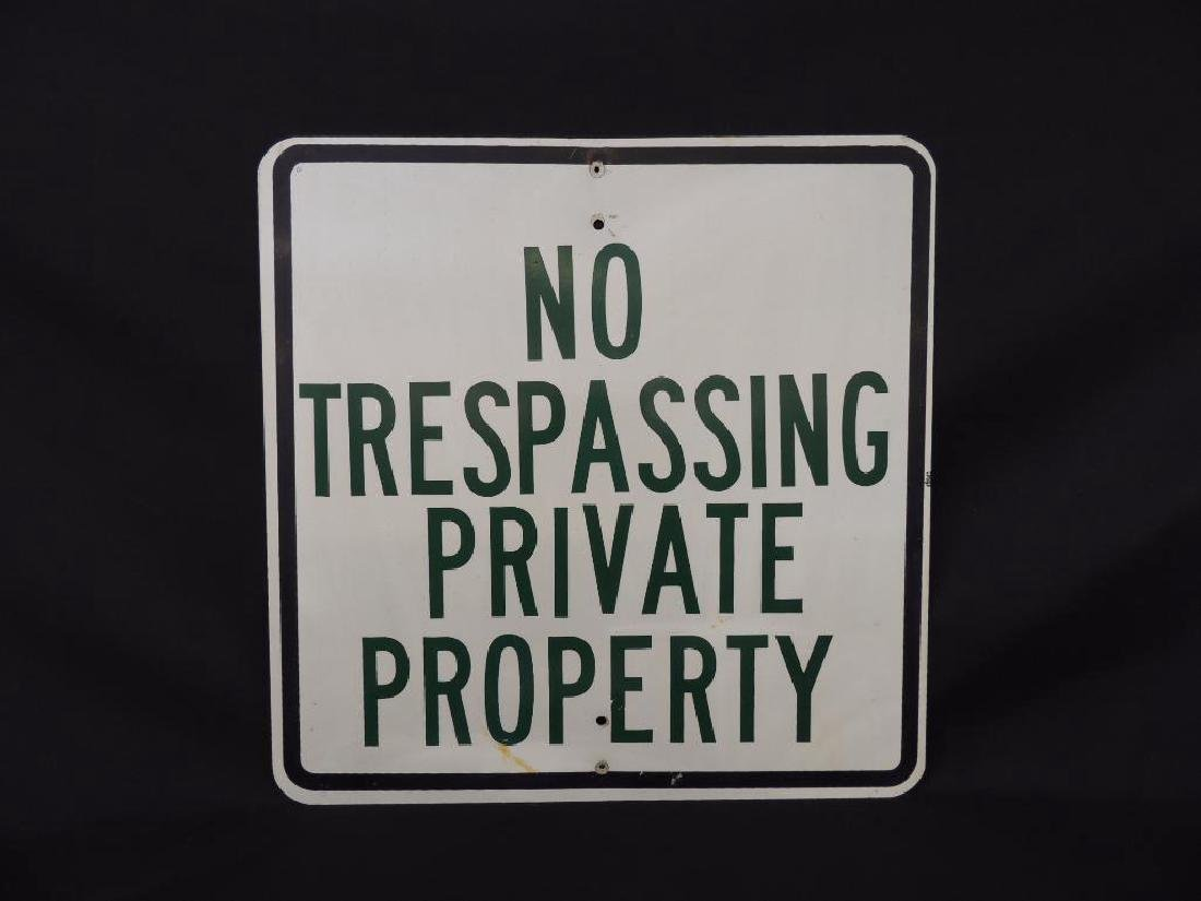No Trespassing Private Property Metal Sign