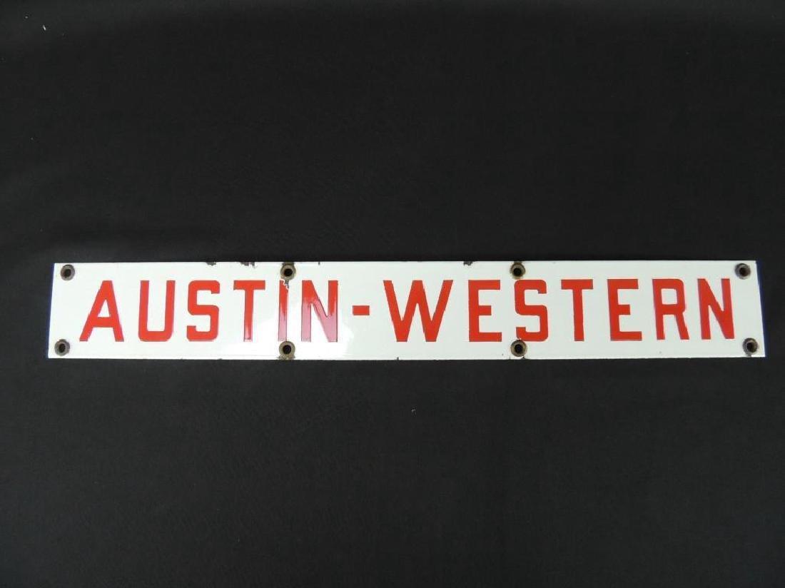 Austin-Western Vintage Porcelain Sign