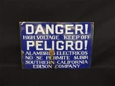 Danger High Voltage Vintage Porcelain Sign