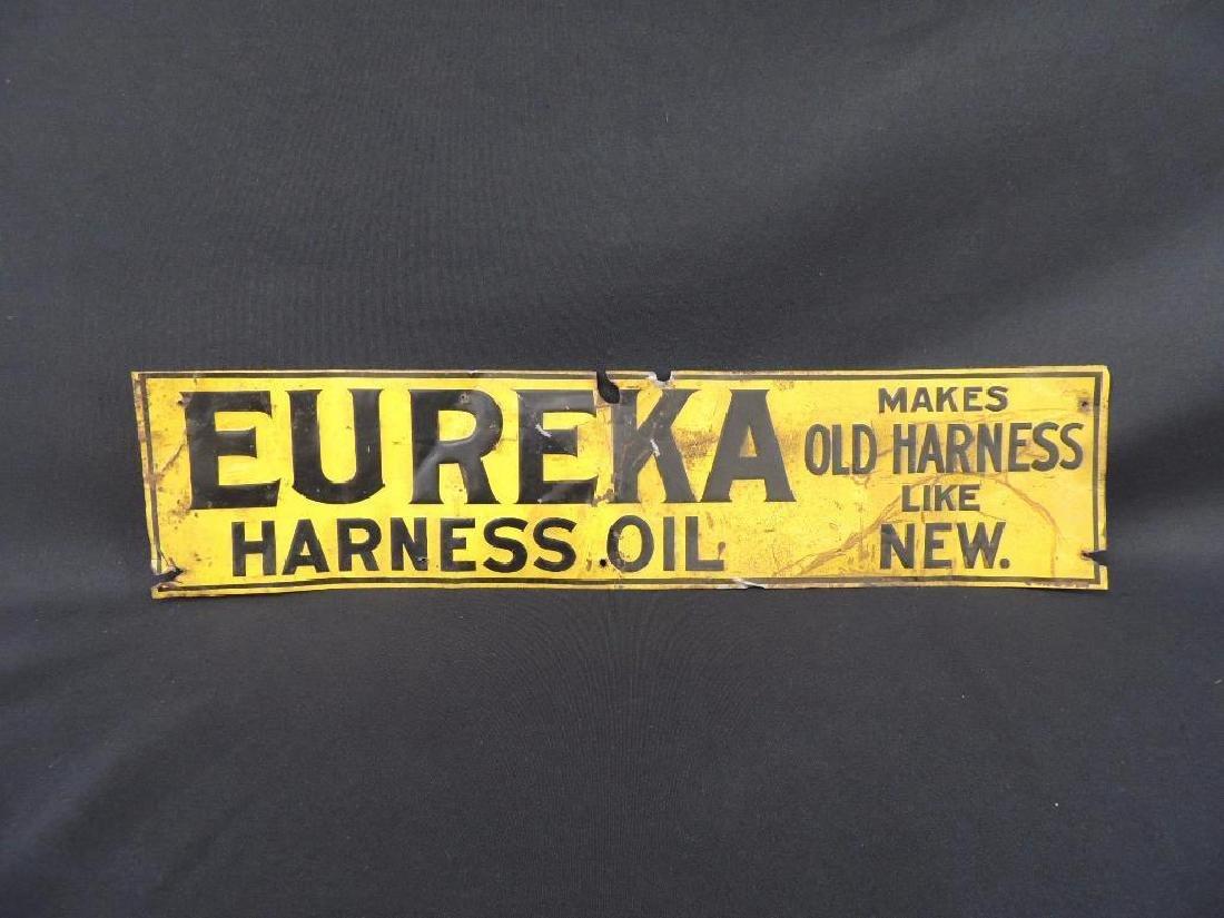 Eureka Harness Oil Vintage Metal Sign