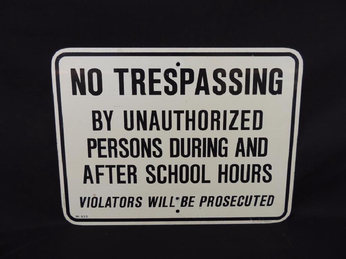 No Trespassing After School Hours Metal Sign