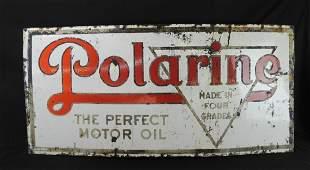 Polarine Motor Oil Vintage Porcelain Sign