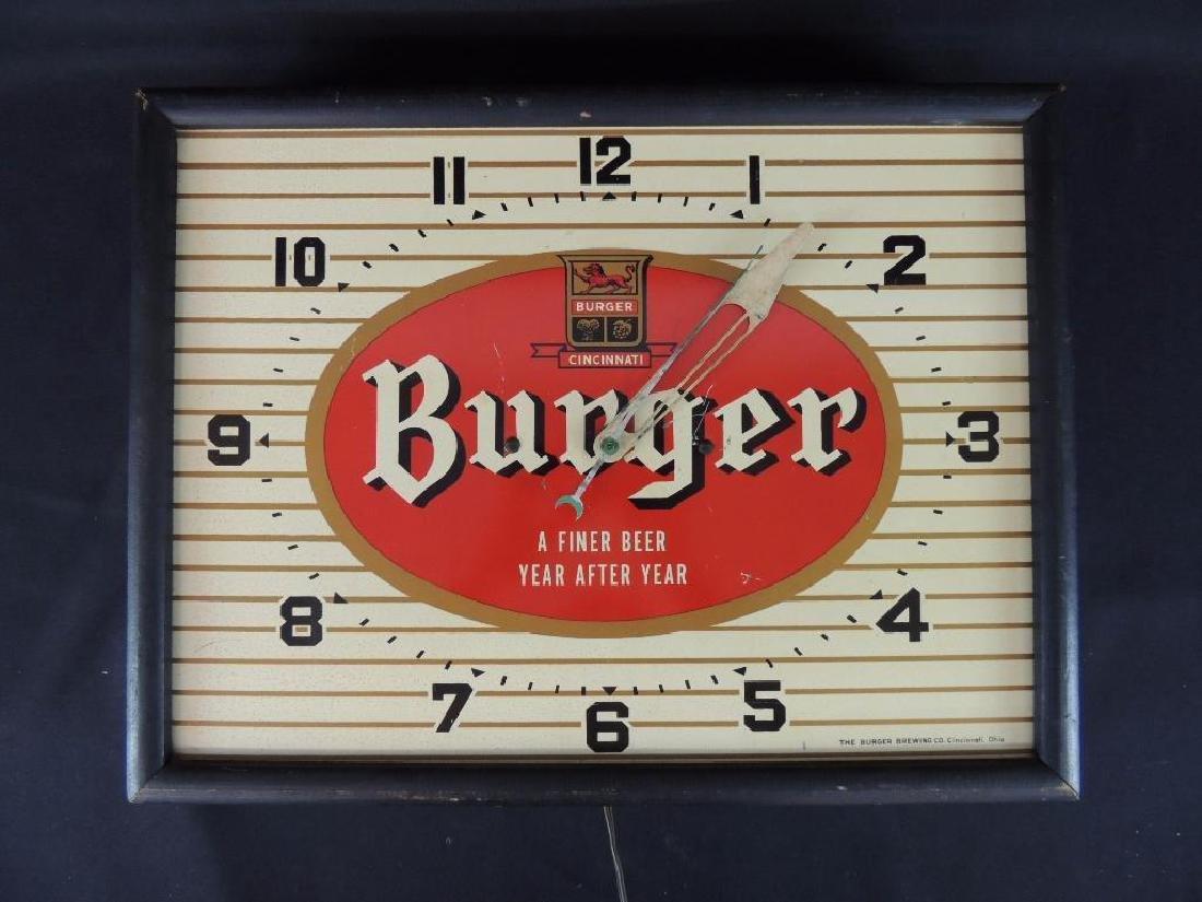 Burger Cincinnati Vintage Advertising Clock