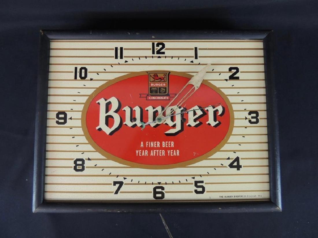 Burger Cincinnati Vintage Advertising Clock - 2