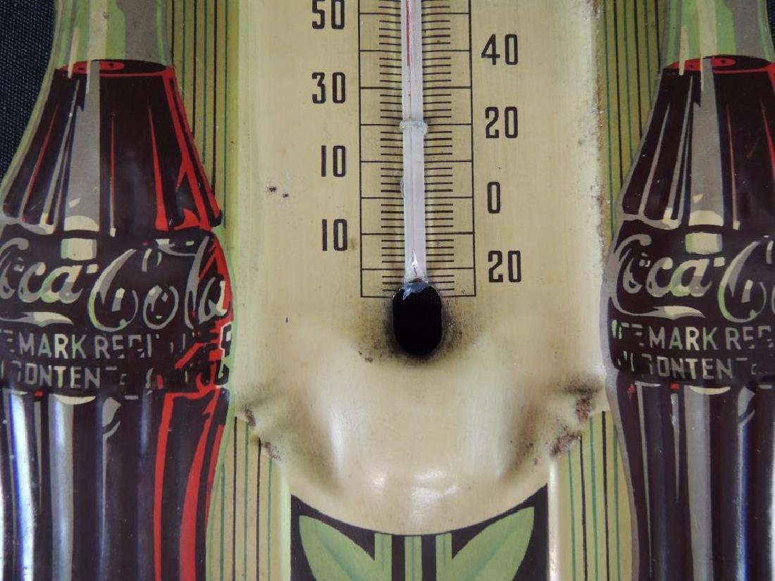 Coca-Cola Vintage Advertising Metal Thermometer - 3