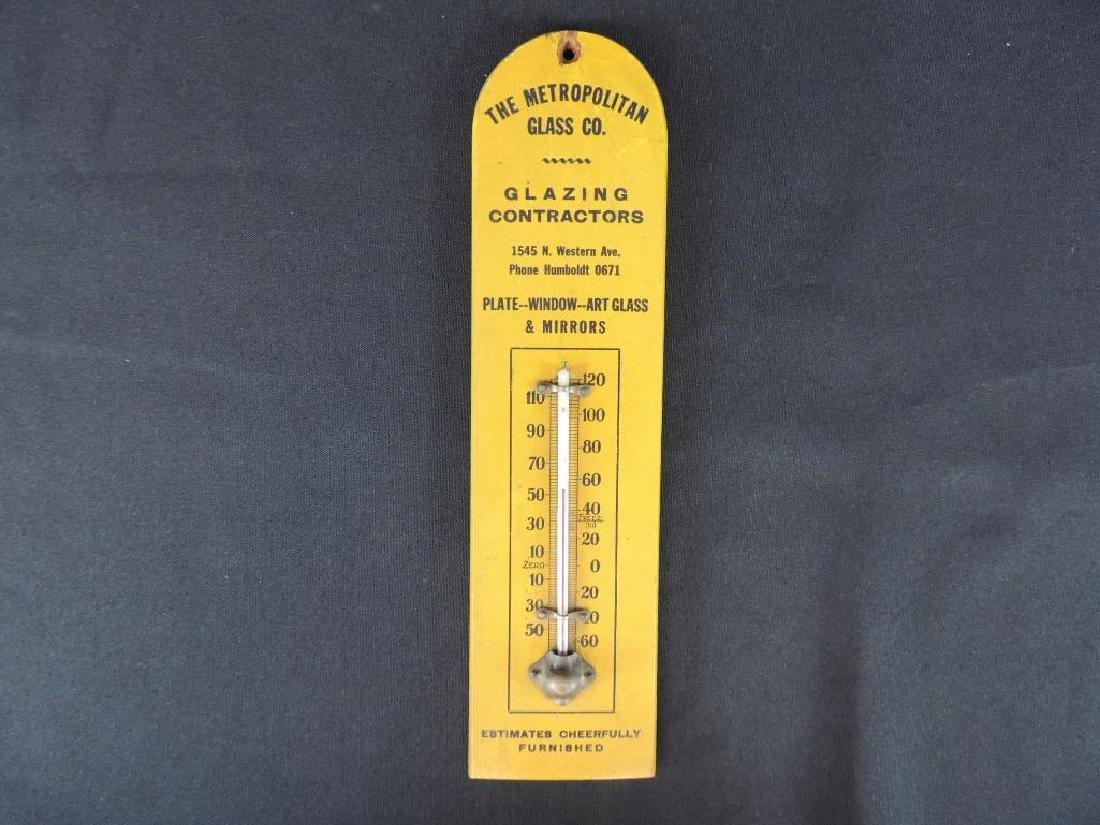Metropolitan Glass Co. Vintage Advertising Wood