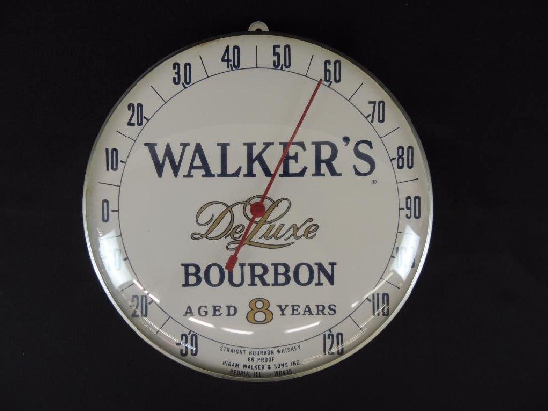 Walker's Deluxe Bourbon Vintage Advertising Thermometer