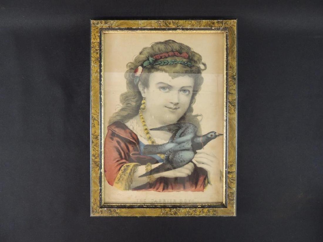 """The Carrier Dove"" Antique Framed Print"