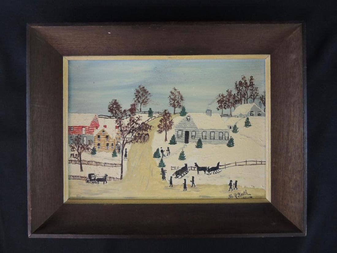 """Winter Time"" Signed by Flo McGrath Oil Painting"