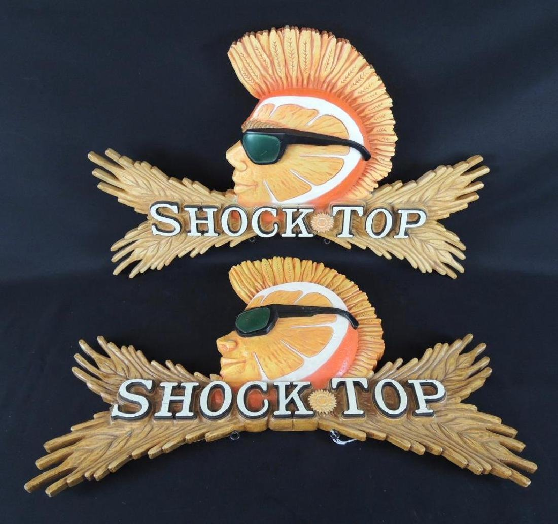 Group of 2 Shock Top Advertising 3D Signs