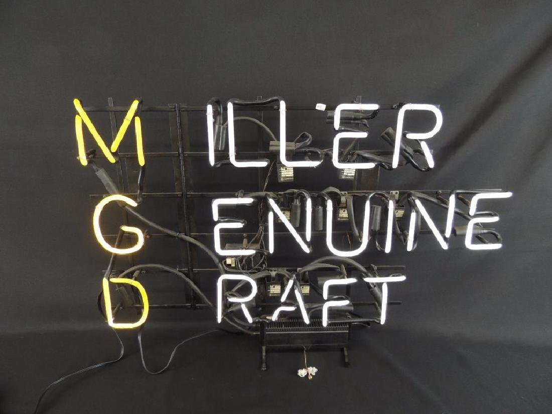 Miller Genuine Draft Flashing Neon Sign - 2