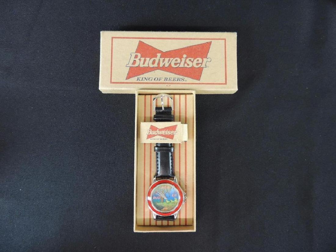 Vintage Budweiser Advertising Wrist Watch with Original