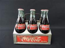 Coca-Cola Vintage Aluminum Six Pack Carrier with