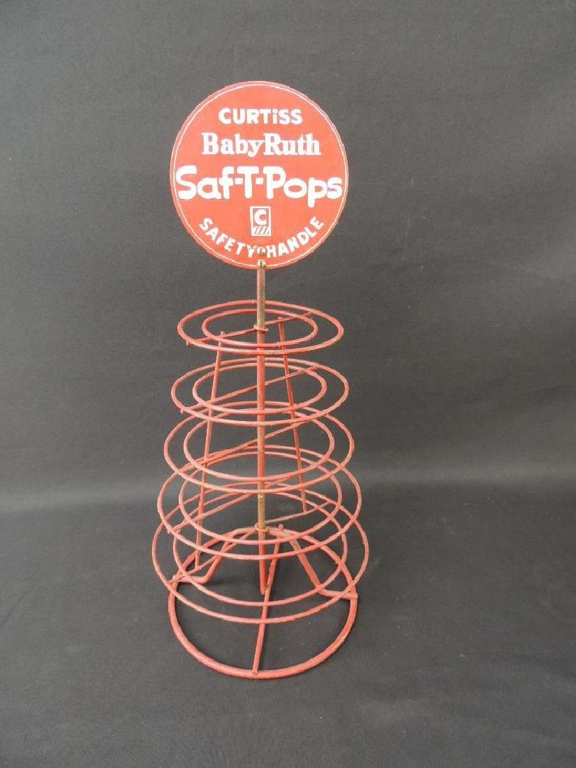 Vintage Curtiss Baby Ruth Saf-T-Pops Lazy Susan Counter - 2