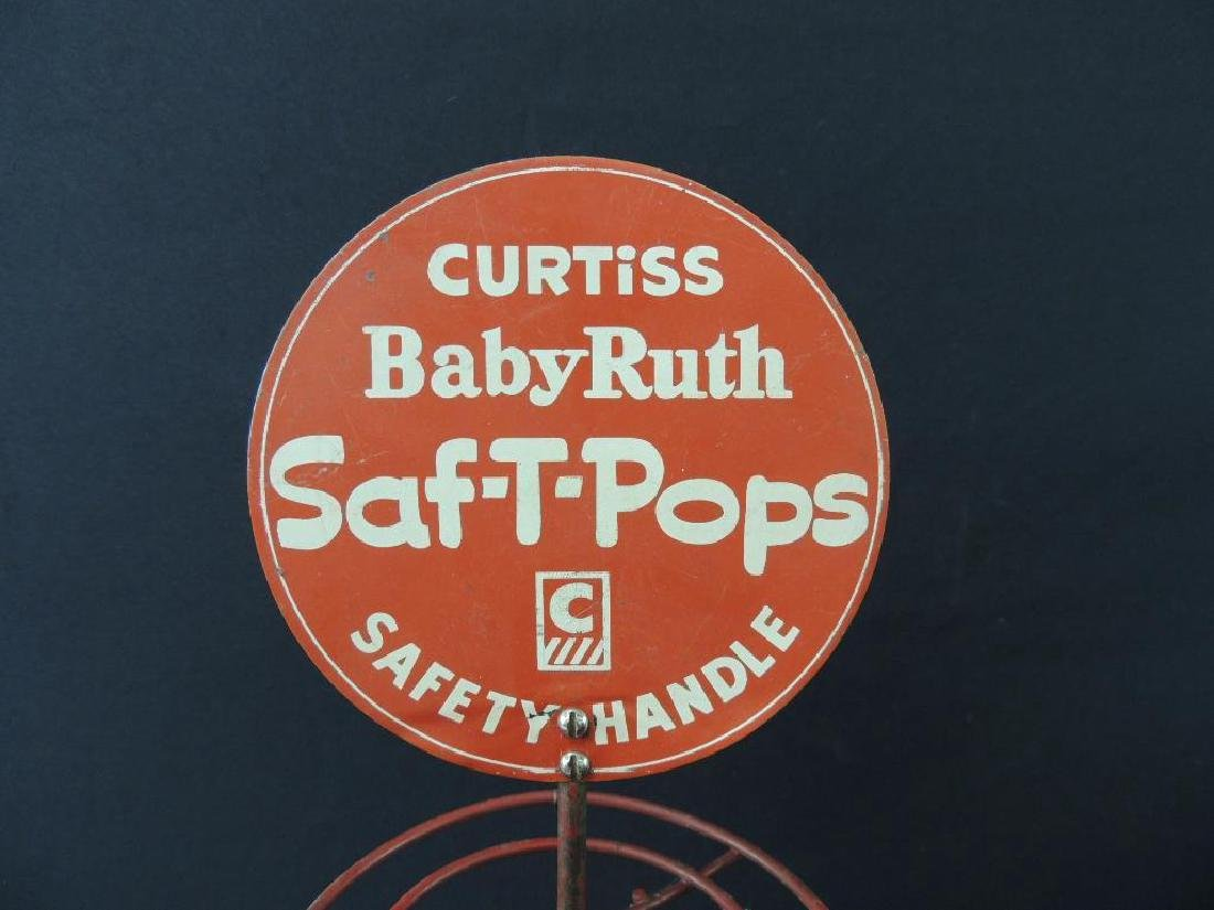 Vintage Curtiss Baby Ruth Saf-T-Pops Lazy Susan Counter - 3