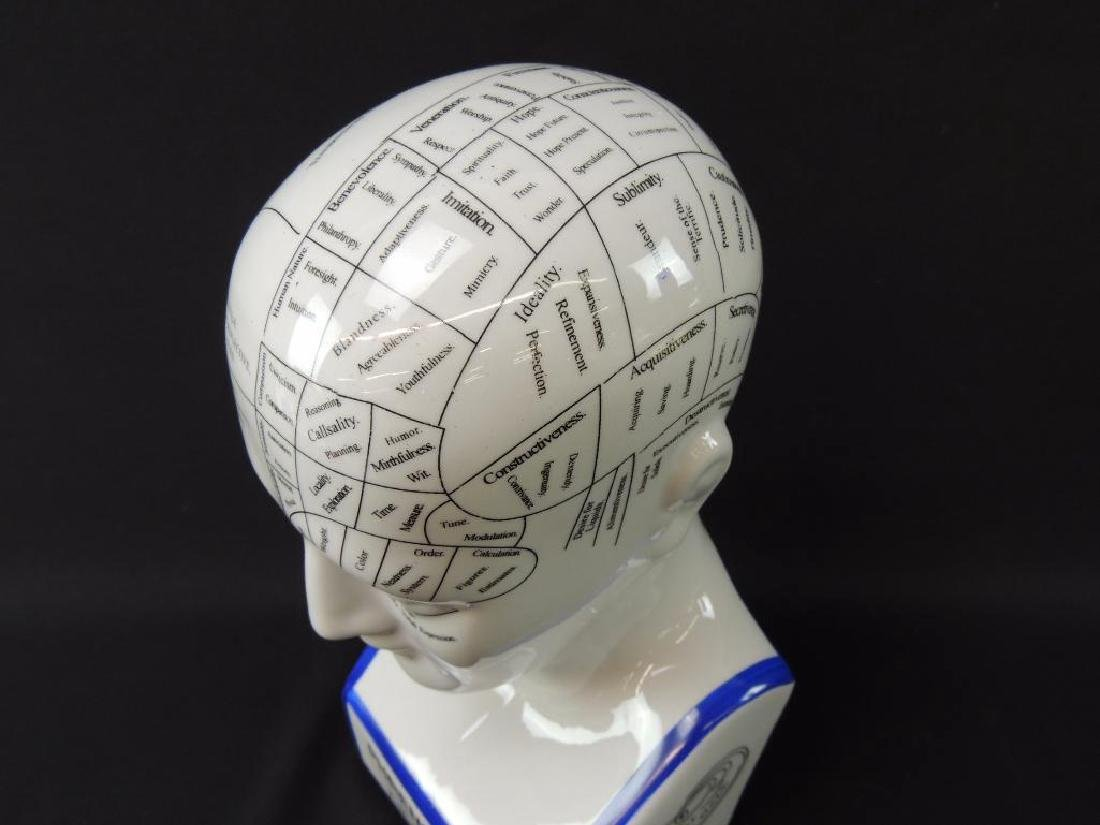 L.N. Fowler Phrenology Porcelain Bust - 3