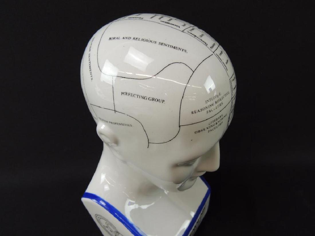 L.N. Fowler Phrenology Porcelain Bust - 4