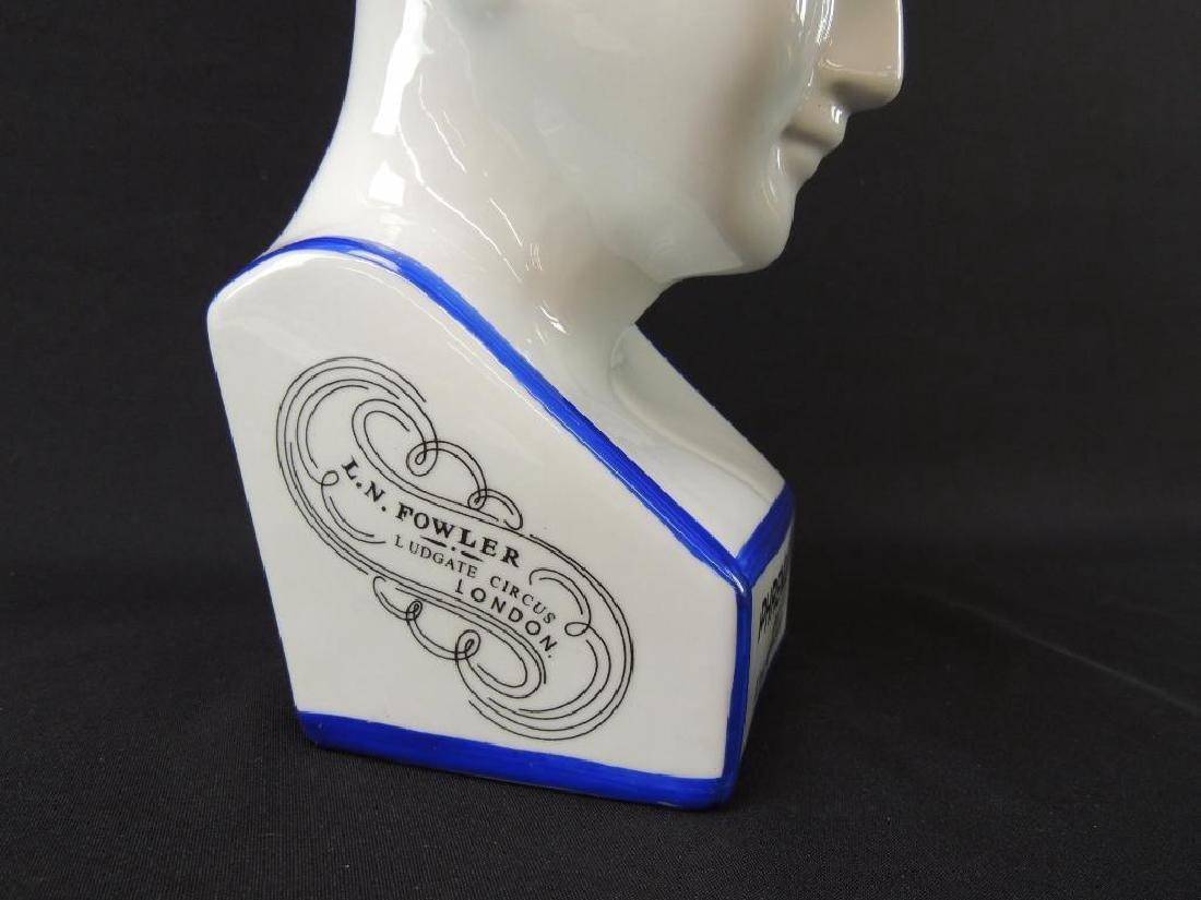 L.N. Fowler Phrenology Porcelain Bust - 5