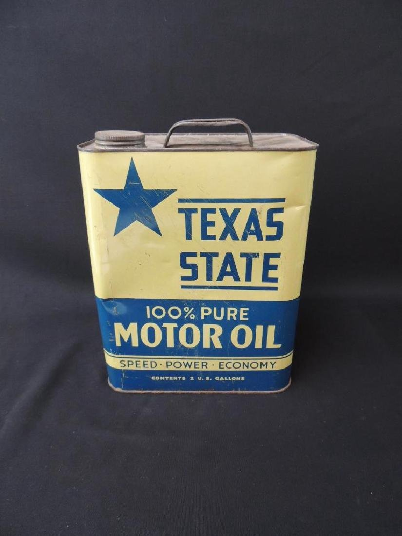 Vintage Texas State Motor Oil Can