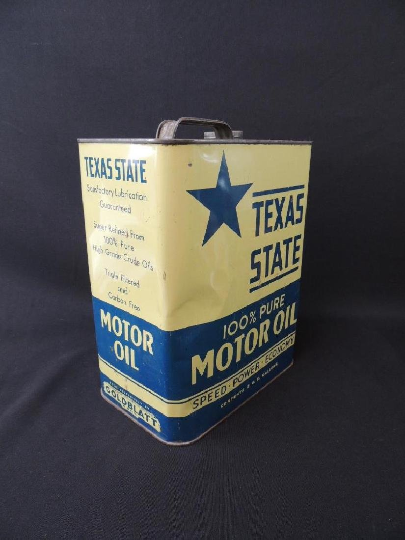 Vintage Texas State Motor Oil Can - 3
