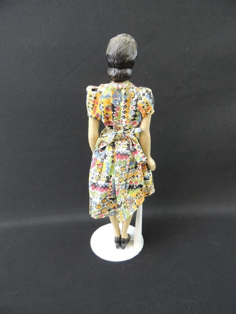 Vintage Miniature Rubber Manikin with Dress - 3