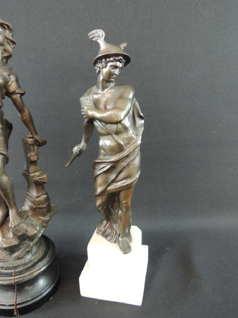Group of 2 Bronze Statue Featuring Woman Blacksmith and - 2