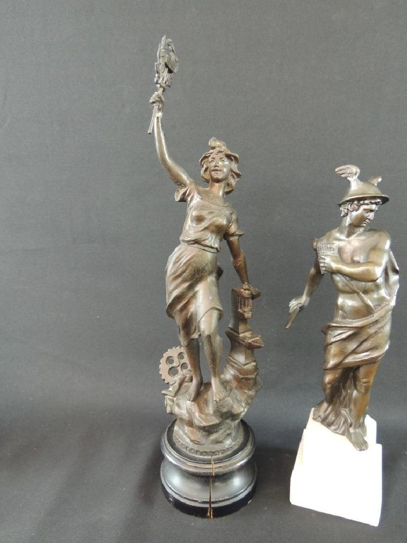 Group of 2 Bronze Statue Featuring Woman Blacksmith and - 3
