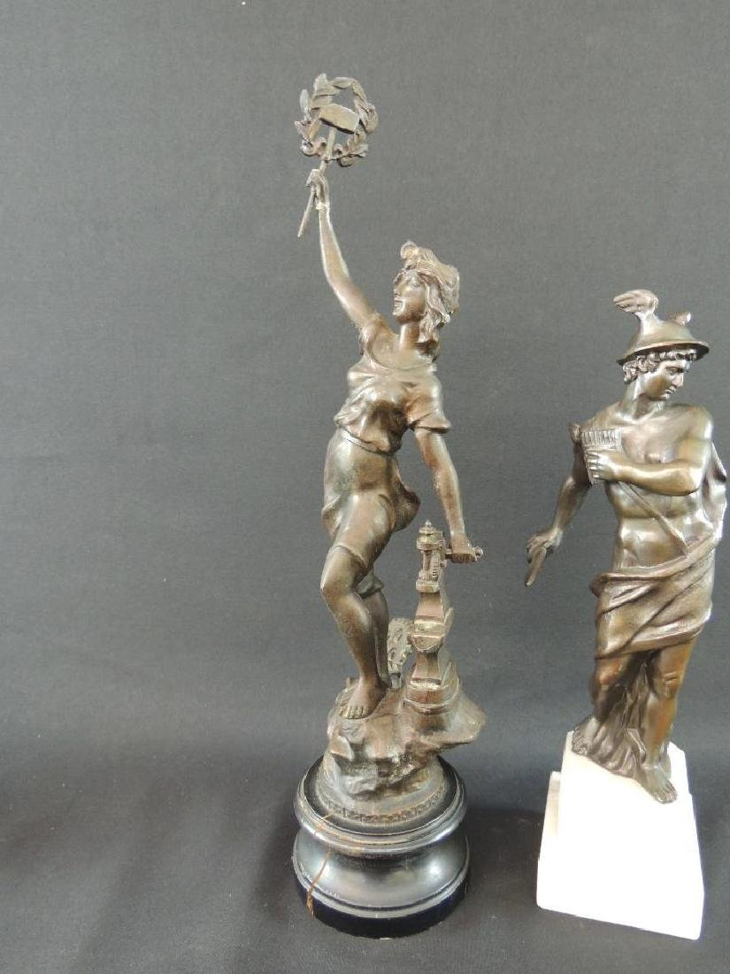 Group of 2 Bronze Statue Featuring Woman Blacksmith and - 4
