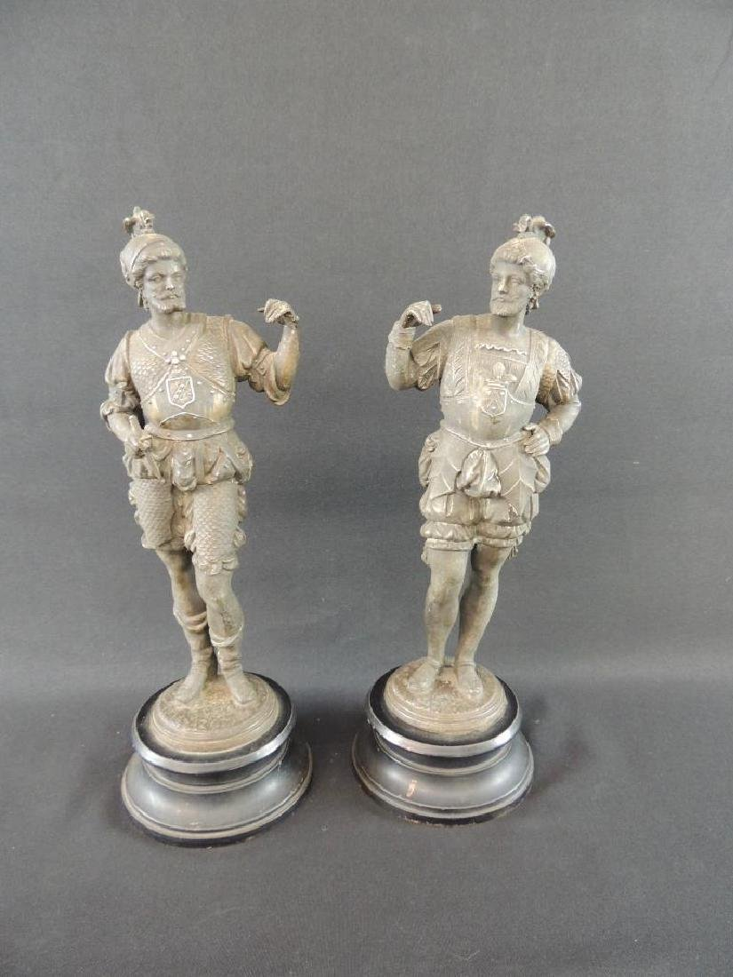 Group of 2 Statues of Men with Helmets - 2