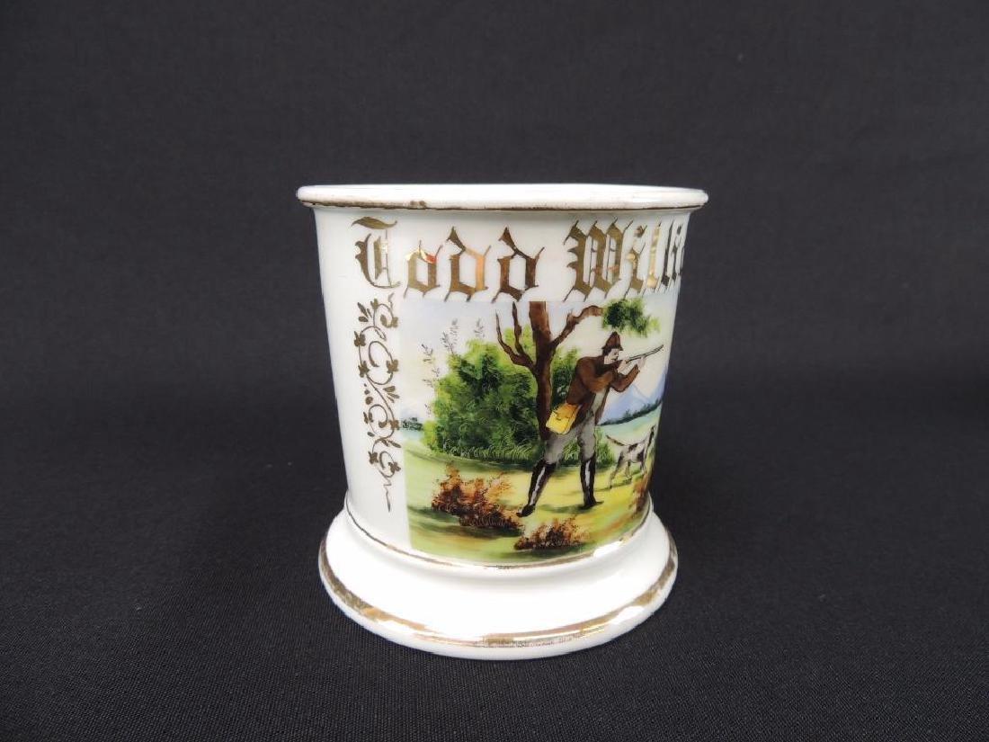 Antique Occupational Shaving Mug, Hunter - 2