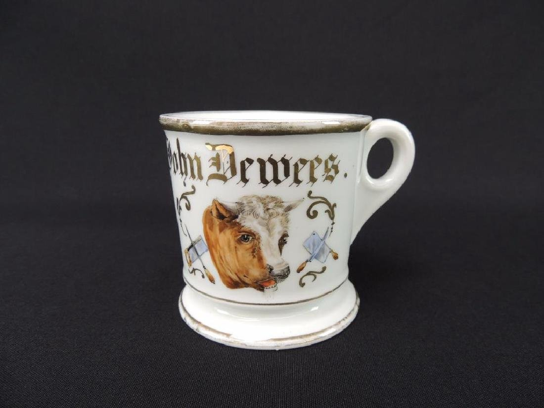 Antique Occupational Shaving Mug, Butcher