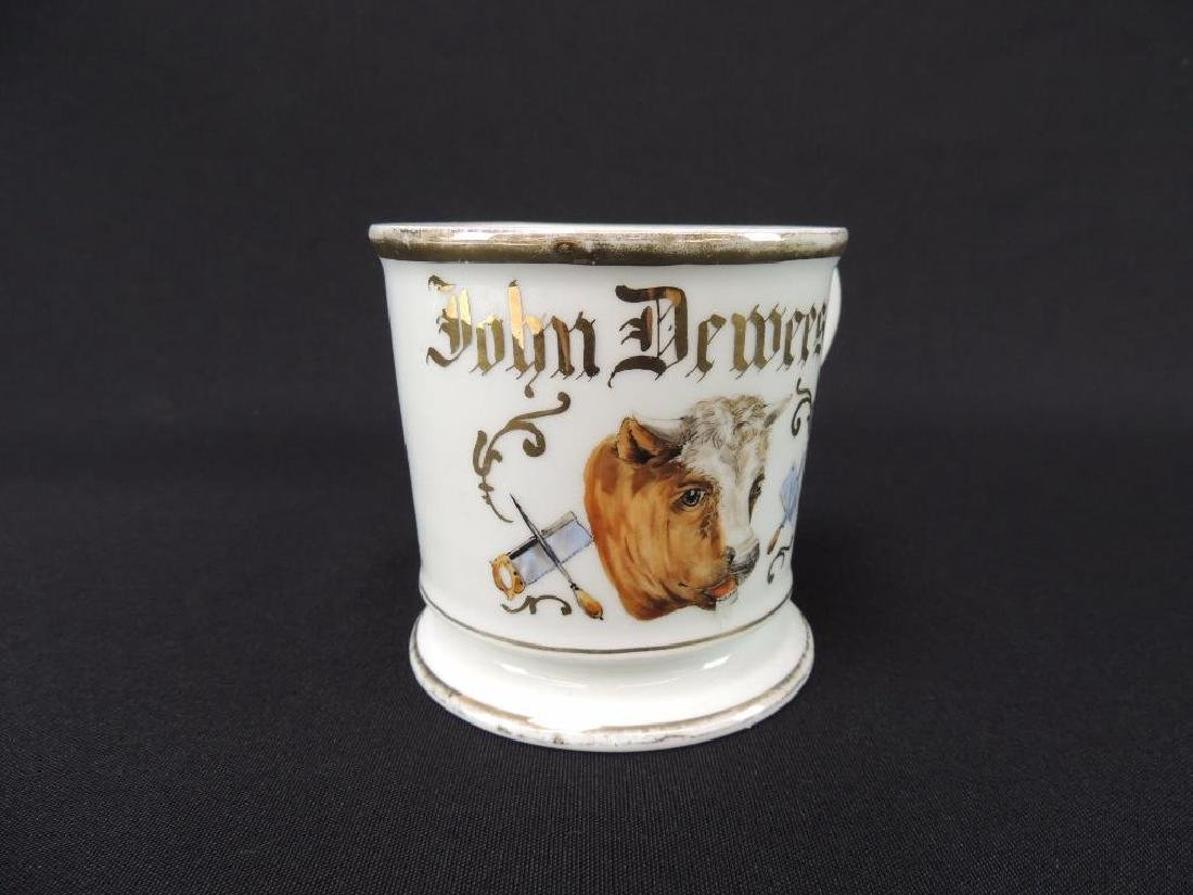 Antique Occupational Shaving Mug, Butcher - 2