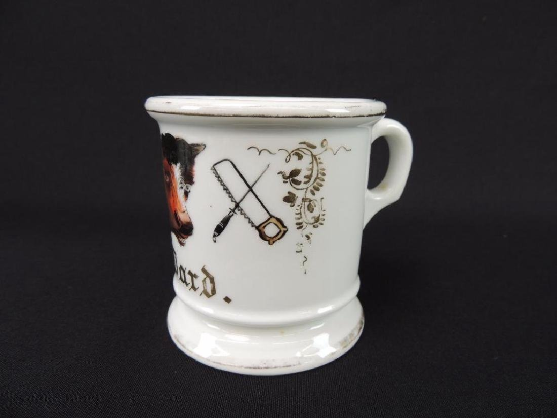 Antique Occupational Shaving Mug, Butcher - 3