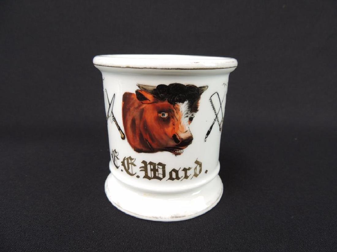 Antique Occupational Shaving Mug, Butcher - 5